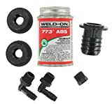 Valterra RK908 ABS Tank Fill Kit with Straight Barbed Elbow and Cement