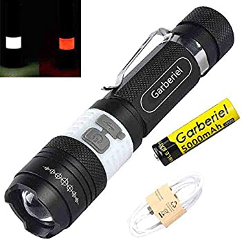 Amazon.com: yosky XML T6 Linterna LED Recargable por USB ...