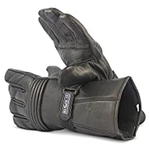 Full Leather Motorcycle Gloves by Blok-IT. Outdoor Gloves, Thermal, 3M Thinsulate Material. For Bikers, Motorcycles & Motorbikes.