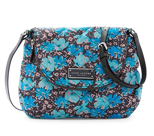 Marc by Marc Jacobs Natasha Quilted Nylon Crossbody Handbag (Blue Floral)