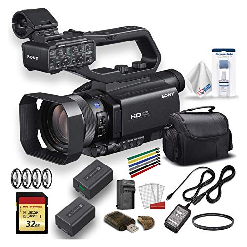 Sony HXR-MC88 Full HD Camcorder with Large Soft Case, Extra Battery, 32GB Memory Card, Memory Card Reader, UV Lens…