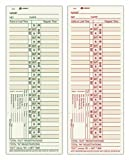 Adams Time Cards, Bi-Weekly, 2-Sided, Overtime Format, 3-3/8'' x 9'', Manila, Green/Red Print, 200-Count (9675-200)