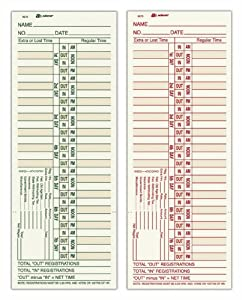 Amazon.com : Adams Time Cards, Bi-Weekly, 2-Sided, Overtime Format ...