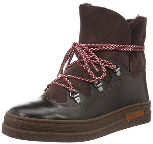 Gant Ladies Maria Snow Boots Brown (purple Fig G503)