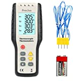 Digital Thermometer Thermocouple, Preciva 4-Channel K-Type Thermoelement Thermometer Sensor , measuring range -200 to 1372 ℃ / 2501°F
