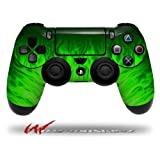 Fire Green - Decal Style Wrap Skin fits Sony PS4 Dualshock Controller (CONTROLLER NOT INCLUDED)