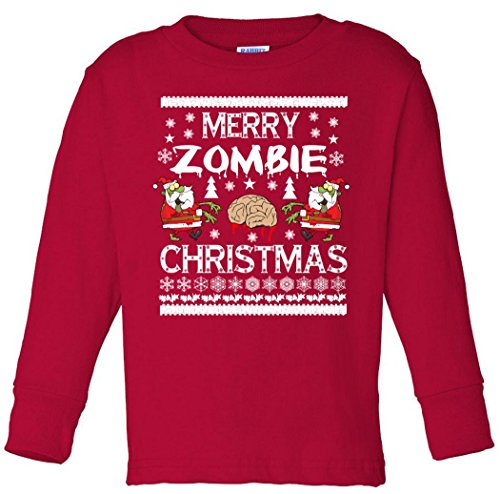 Merry Zombie Ugly Christmas T-Shirt Toddler