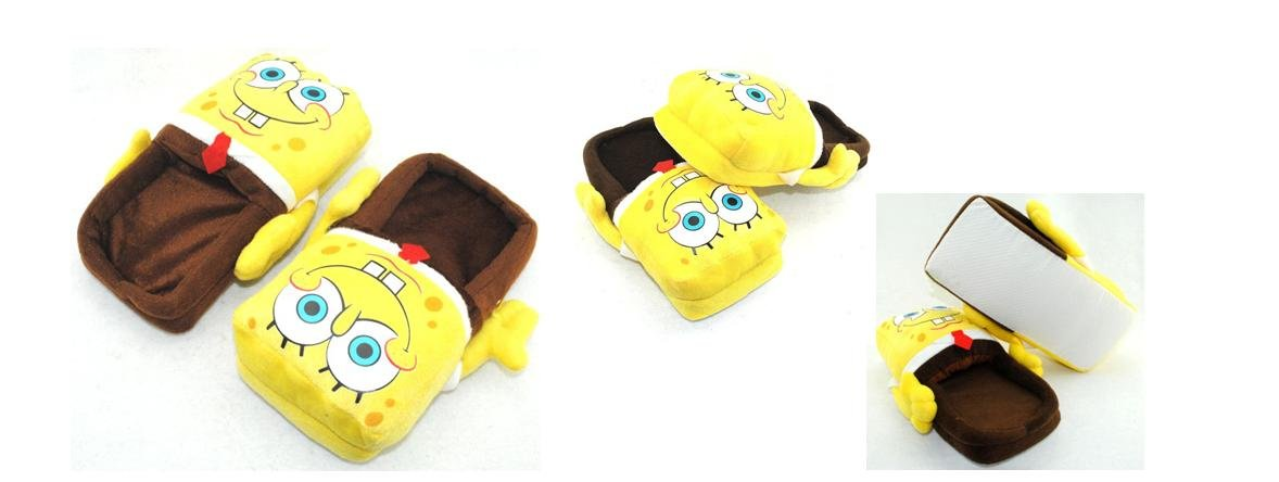 Spongebob Plush Slipper Adult Size fit up to 10.5'' Long