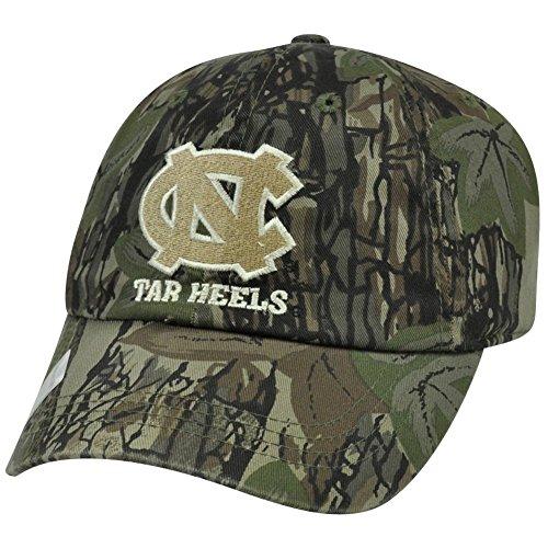 (Captivating Headgear NCAA North Carolina Tar Heels Hunting Camo Camouflage Curved Bill Hat Cap)
