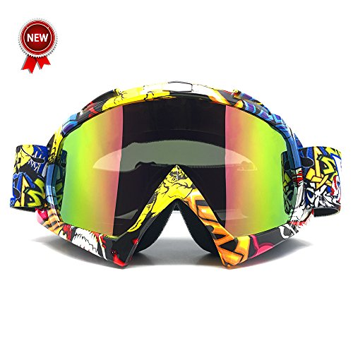 Bike Atv Motorcycle - Zdatt Professional Adult Motocross Goggles Dirtbike ATV Motorcycle Gafas UV Protection Motorbike Ski Snowboard Goggles