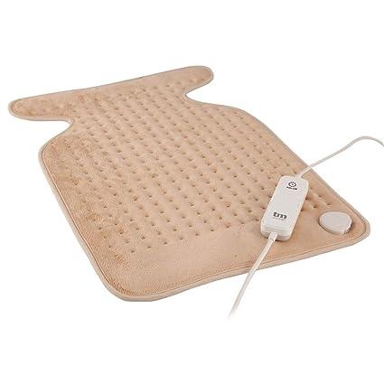 TM Electron TMHEP111 - Almohadilla Eléctrica Lavable para Cuello y Espalda, 100W con 3 niveles de temperatura y autoapagado