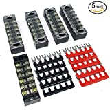 IZTOSS 6 Positions 600VAmp terminal block kits Terminals Included Red and Black 10 Pcs