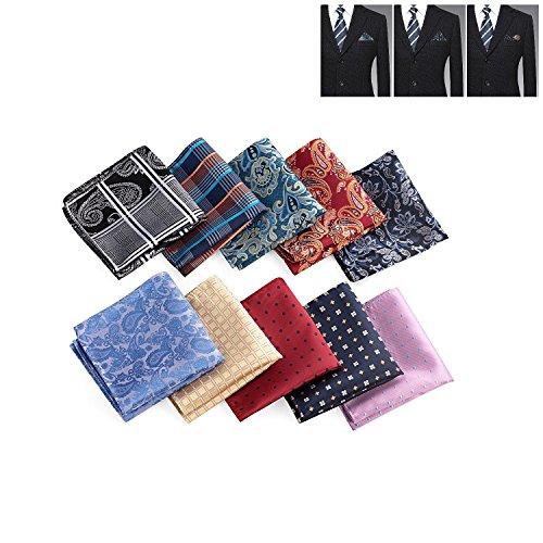 Xgunion Mens Square Handkerchief Printing patterns Pocket Wedding Party by Xgunion