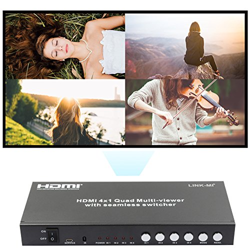 LINK-MI S41 HDMI 1.3a HDCP 1.2 HDMI 4x1 Quad Multi-Viewer with Seamless Switcher