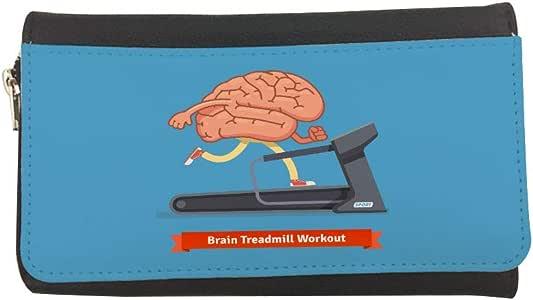 محفظة جلدية مطبوعة لتمرينات المشي المخ