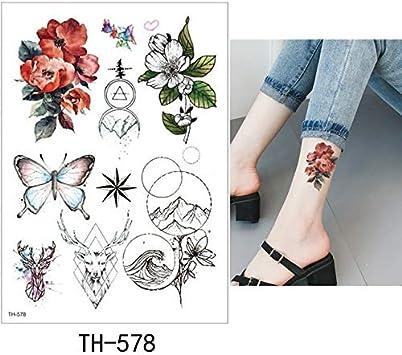 HXMAN 5 Hoja Tatuaje Temporal Pegatina Sexy Falsa Tatoo Flor Flash ...