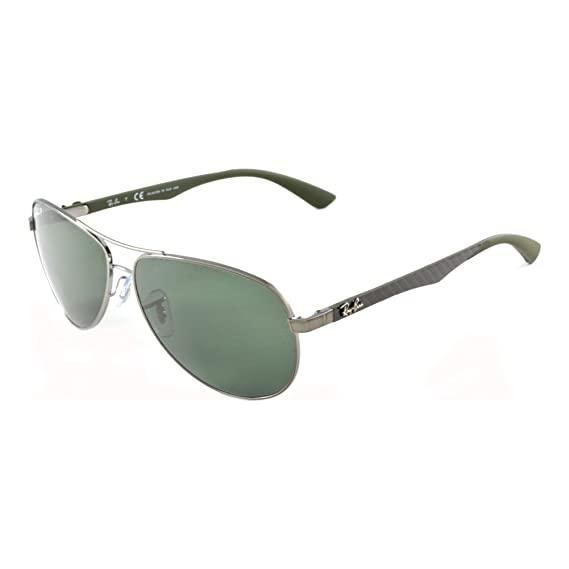 40fbcaef52e55 Ray-Ban 8313 004 N5 Gunmetal 8313 Aviator Sunglasses Polarised Lens  Category 3  Amazon.co.uk  Clothing