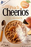 Peach Cheerios Limited Edition - Whole Grain Oats Cereal - Gluten Free 12 Ounce (Pack of 2)