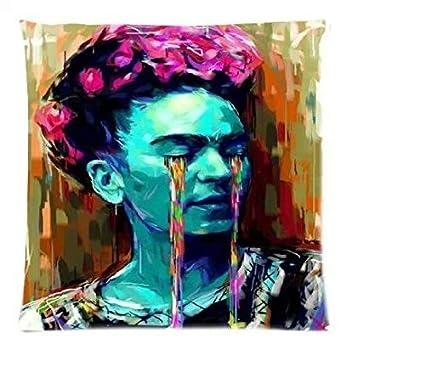 Frida Kahlo con cremallera lateral doble amortiguador, cojín ...