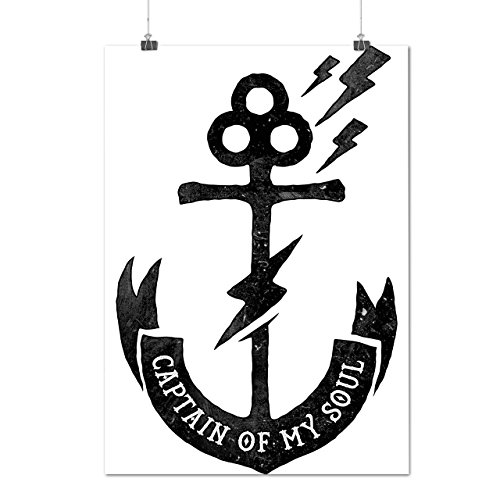 [Captain Of My Soul Anchor Ship Matte/Glossy Poster A4 (9x12 inches)   Wellcoda] (Bride And Groom Halloween Costumes Uk)