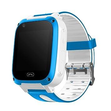Huang Dog-shop Reloj Fitness Niños Inteligentes Android, Reloj de Juegos Inteligente para niños GPS antipérdida, Smart Watch Seguimiento de la frecuencia ...
