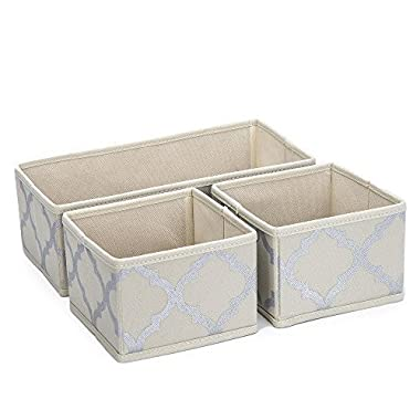 Sorbus Foldable Storage Drawer Closet Dresser Organizer Bins - 3 Piece Set -  Beige