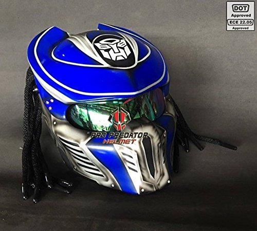 Pro Predator Motorcycle DOT Approved Helmet Optimus Prime Style include Tri Laser SY36