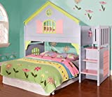 DONCO Kids 0300 Doll House Stairway Bunk Bed, Multicolored, N/A