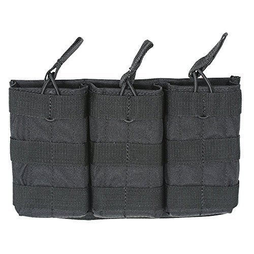 VooDoo Tactical Men's M4/M16 Open Top Mag Pouch with Bungee System, Black