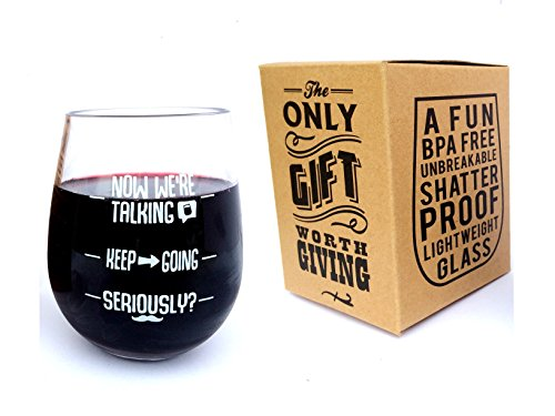 SERIOUSLY? Stemless Unbreakable Funny 16 oz Wine Glass with Gift Box - Gifts for Women, Men, Him, Her, Mother, Father, Wife, Sister, YOU! - Vinaka-Kitchen (SERIOUSLY?)