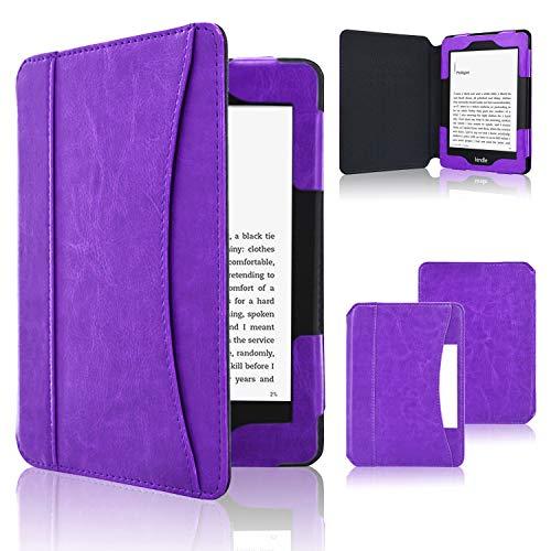 ACdream Case Fits All-New Nook Glowlight Plus 7.8 Inch 2019 Release, Folio Premium PU Leather Cover Case for Barnes&Noble Nook Glowlight Plus 7.8 Inch Ereader, Purple