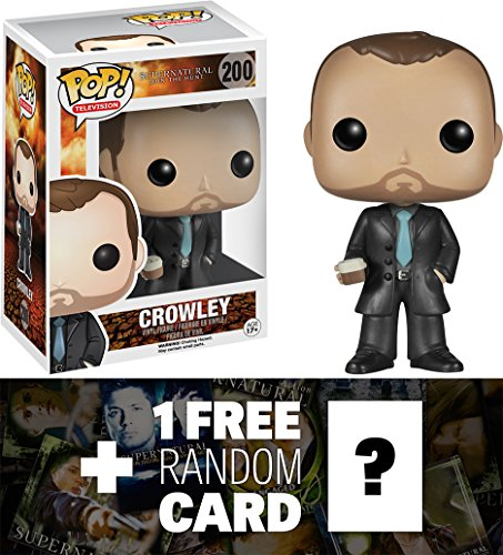 Crowley: Funko POP! x Supernatural Vinyl Figure + 1 FREE Official Supernatural Trading Card Bundle [51006]