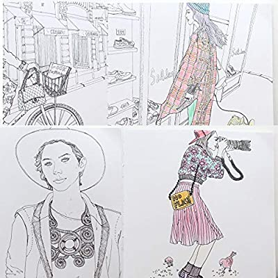 DKY Adult Fashion Figure Coloring Book Thick Paper 96 Pages: Arts, Crafts & Sewing