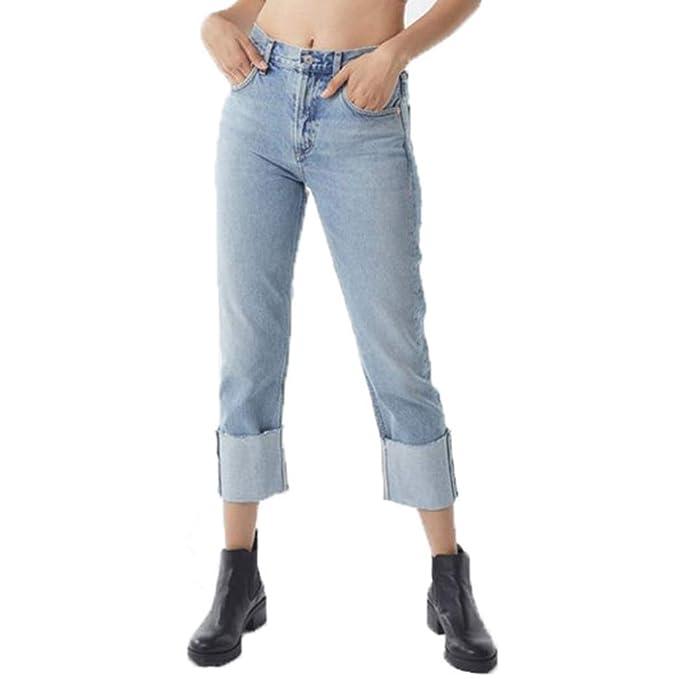 ZORE 👖 Pantalones De Mezclilla Elásticos Rectos con Cordón ...
