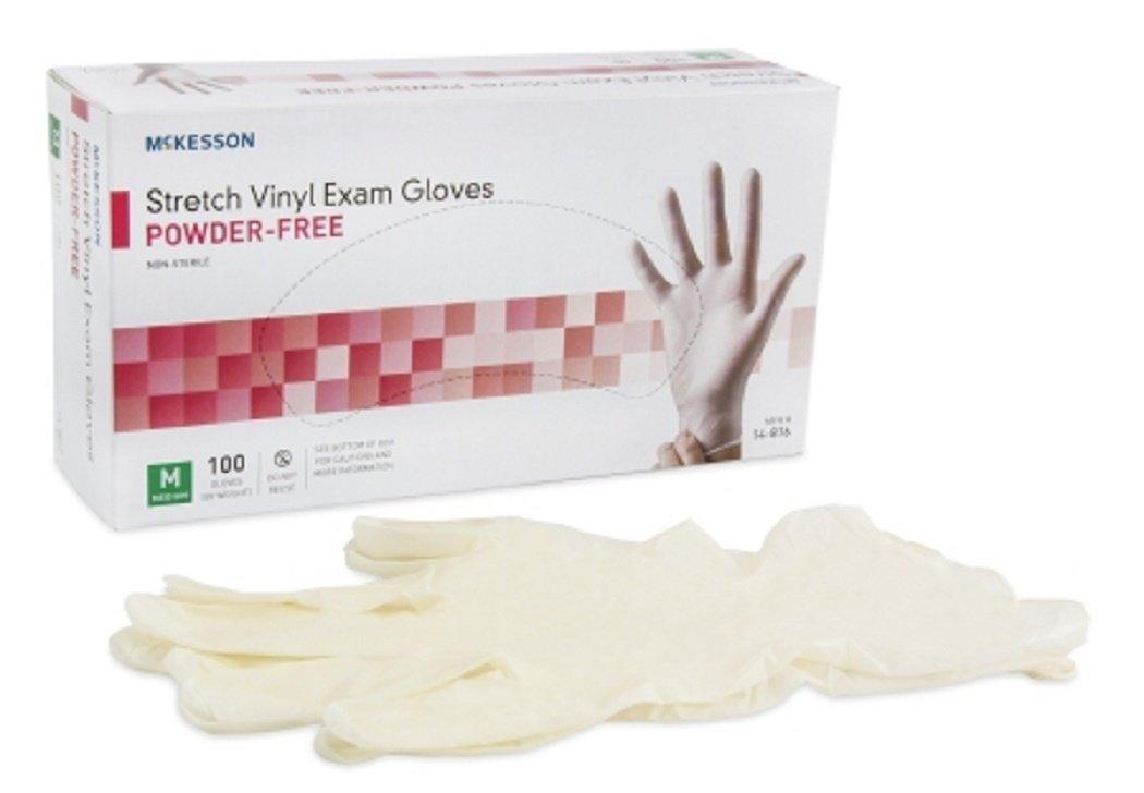 Medi-Pak Performance Plus Vinyl Exam Gloves Non-Sterile, Powder-Free, Smooth, Ivory, Ambidextrous, Medium - Case of 1000 (100 per Box, 10 Boxes per Case)