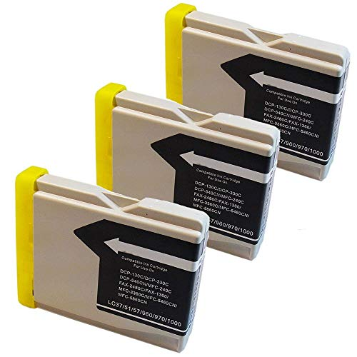 Generic 7439418073062 3 Pack Compatible with Brother LC51BKS - Black Ink Cartridge for for Brother DCP-130c 330c 350C Intellifax