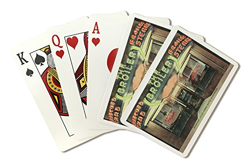 Seattle, Washington - Exterior View of the Broiler Restaurant (Playing Card Deck - 52 Card Poker Size with - Broiler Deck