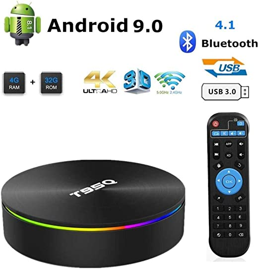 LFYPSM T95Q Android TV Box 8.1 Smart Box 4GB RAM 32 / 64GB ROM Decodificador De Red