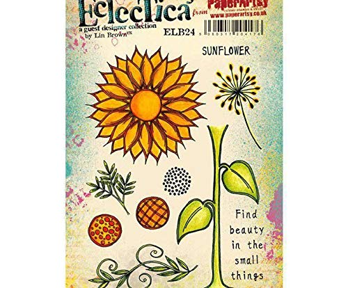 Sunflowers - Rubber Cling Stamps (10ks), Paperartsy, Scrapbooking Paper