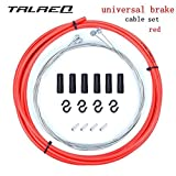 Bicycle Brake Cable Bike Braking Cable Line Wire Hose Housing Set Bicycle Parts Accessories (red)