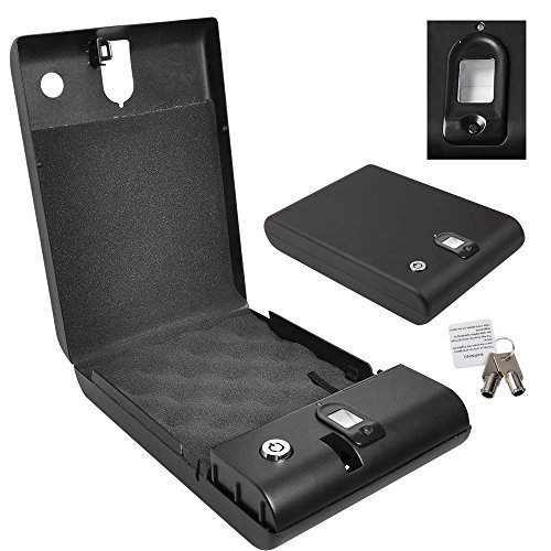 Yunanwa Portable Safe Case Gun/pistol with Biometric 100 Fingerprint Lock Biobox Travel Car Home by yunanwa