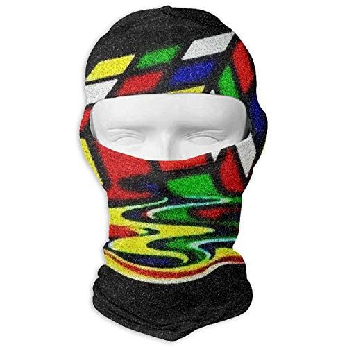 (Windproof Balaclava, Rubiks Cube Full Face Mask Hood for Party Activities)