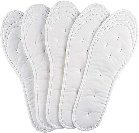 Artibetter 5 Pares de Plantillas de Rizo de Verano Plantillas de Zapatos de algodón Descalzo Plantillas de absorción de Golpes Transpirables Plantillas Deportivas tamaño de Corte 25.5 x 8.5 cm: Amazon.es: Deportes