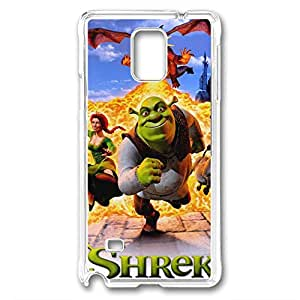 Samsung Galaxy Note 4 Case, DIY galaxy note 4 cases PC Transparent With pattern Shrek