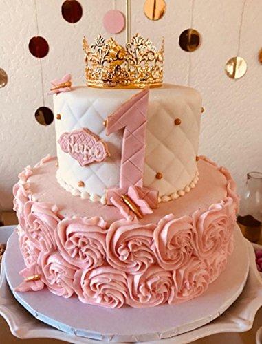 Amazon.com: HYOUNINGF Gold Crown Cake Topper Elegant Cake Decoration ...