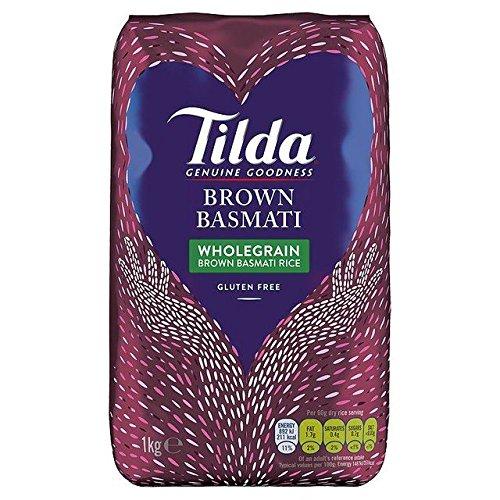 Tilda Brown Wholegrain Basmati Rice - 1kg (2.2lbs) Basmati Rice Whole Grain