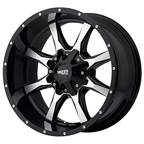 Used, Moto Metal MO970 Gloss Black Wheel Machined with Milled for sale  Delivered anywhere in USA