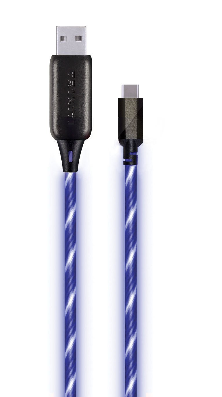 Speed USB C Certified Type-C Fast Charging Cable Lighted LED Charge & Sync Fastest 3A Data Transfer Cable for Newest Android USB-C Mobile Smartphone Samsung [Intelli-Charge] (Type-C Purple)