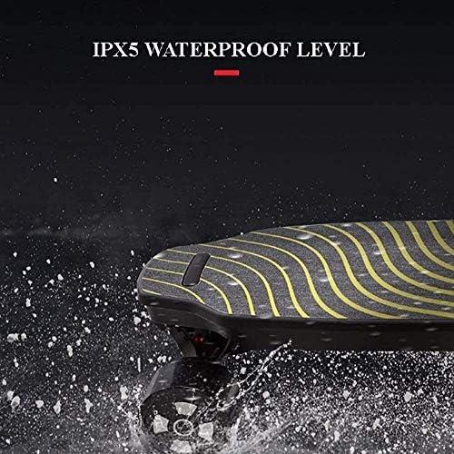 Nfudishpu Tout-Terrain Longboard Quatre Roues Double Moteur Skateboard Électrique, Mini Scooter Pliant Bluetooth Haut-Parleur Fish Board Longboard Skate Pliable Hoverboard (Couleur: A)