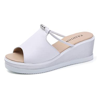 De Fille Mules Minetom Tongs Été Claquettes Compensées Confortable Chaussures Femme Sandales Plage eEDWIH2Y9b